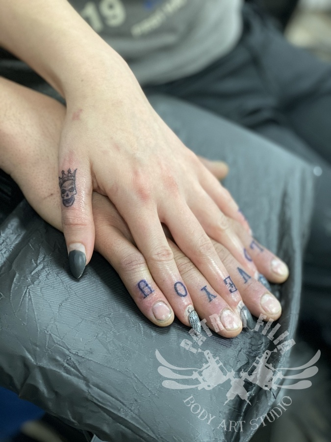 Vinger tattoos Tattoeages 1